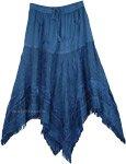 Rad Denim Blue Medieval Chic Skirt [4781]