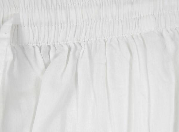 Angel White Wide Leg Split Pant Skirt
