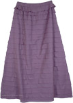 Vivid and Violet Fall Tiered Skirt [4788]