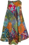 Funky Floral Wrap Around Skirt [4814]