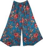 Blue Print Cotton Pull-On Pants [4863]