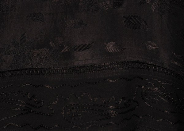 Medieval Handkerchief Black Maxi Skirt
