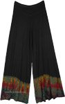 Half Tie Dye Stretchy Wide Leg Palazzo Lounge Pants