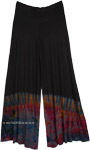 Wide Leg Split Skirt Pants with Colorful Tie-Dye
