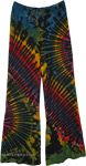 Festival Tie Dye Rainbow Pants For Women Yoga