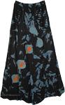 Appliqued Black Thai Skirt [4939]