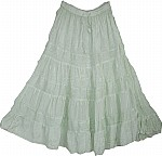 Light Green Flowy Long Skirt