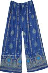 Persian Blue Palazzo Long Hippie Pants