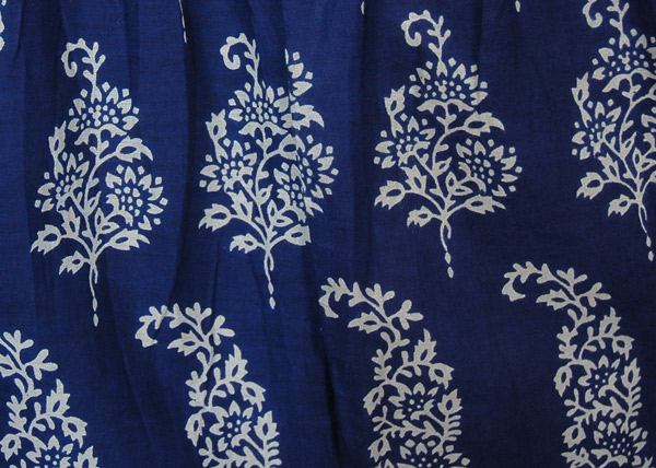 Cobalt Blue Maxi Skirt With Floral Block Print Blue Misses Tiered Skirt Maxi Skirt Floral Printed