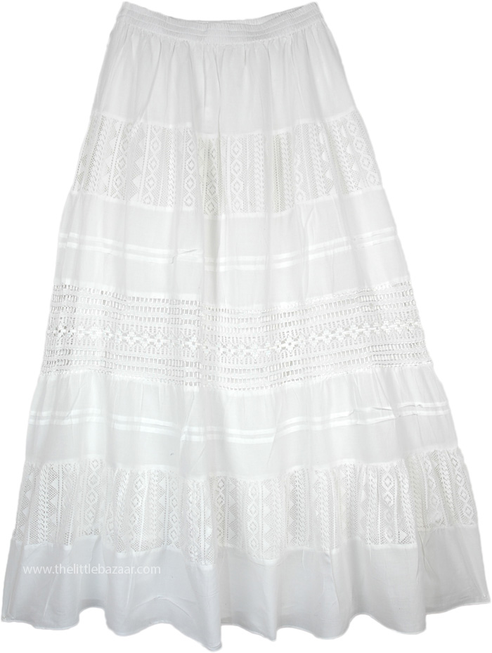 Snow White Summer Cotton Skirt Clothing Sale On Bags