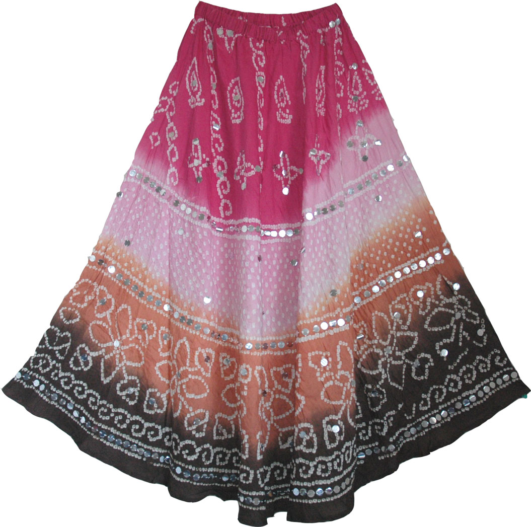 Beautiful indian long skirt flowy summer long skirt dazzled by hundreds of round silver sequins, Boho Sequin Dancing Long Skirt