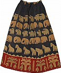 Bohemian Applique Work Cotton Long Skirt