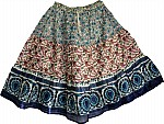 Printed Cotton Summer Short Skirt