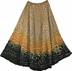 Glitter Accented Long Gypsy Skirt