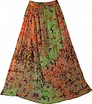 Womens Breezy Summer Garden Skirt