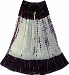 Purple Long Skirt  with Mirrors