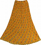 Festive Crinkle Skirt in Buttercup