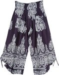 Monochromatic Gypsy Culottes Pants with Beatnik Design