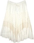 Snow Princess Skirt in Pure White with Chic Lace Tier