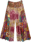 Floral Patchwork Boho Hippie Colorful Wide Legs Pants