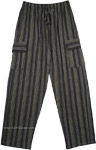 Shama Cotton Striped Unisex Boho Trousers with Pockets