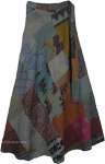 Willow Grove Hippie Cotton Patchwork Wrap Around Skirt