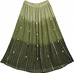 Green Summer Long Skirt