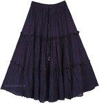 Valhalla Magic Tiered Cotton Mid Length Skirt