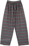 Grey Toned Multicolored Unisex Boho Pajama Pants