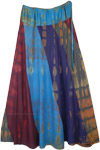 Tie Dye Patchwork Flowy Soft Fabric Long Skirt