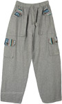 Everyday Grey Woven Cotton Pants with Pockets