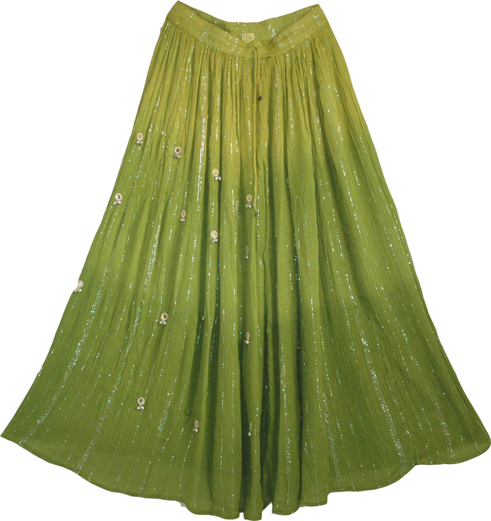Summer Long Skirt with Mirrors
