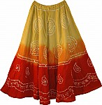 Red Cotton Summer Skirt