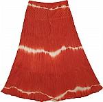 Eyelet Yoke Skirt Crinkle Skirt