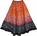 Sequin Skirt Tie Dye Skirt