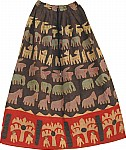 Bohemian Skirt Applique Cotton Skirt