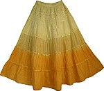 Summer Cotton Long Skirt