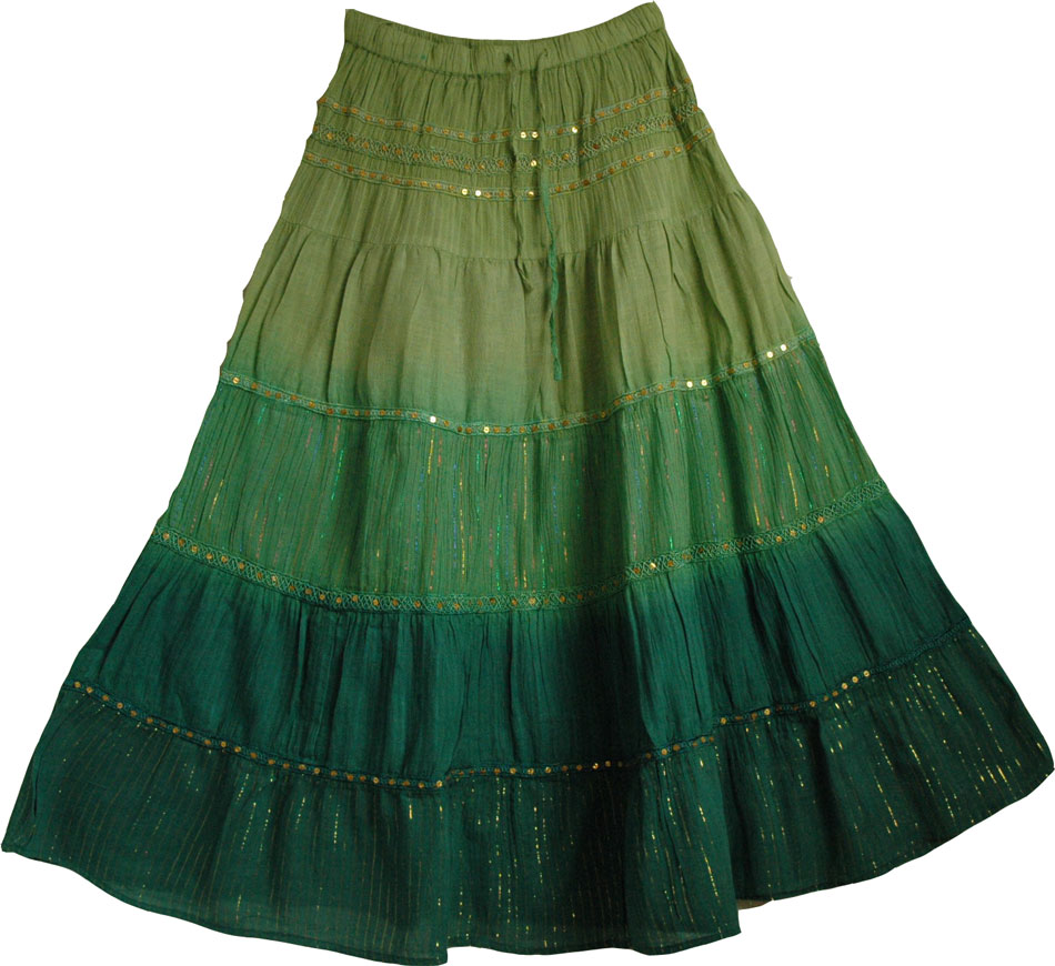 Green Sequin Skirt 102