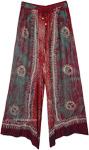 Sun Tribe Hippie Wide Leg Long Rayon Pants