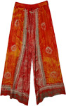 Helios Orange Hippie Batik Lounge Pants