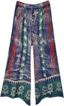Hippie Batik Lounge Pants in Blue and Red