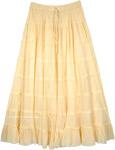 Sweet Melon Long Tiered Full Cotton Skirt