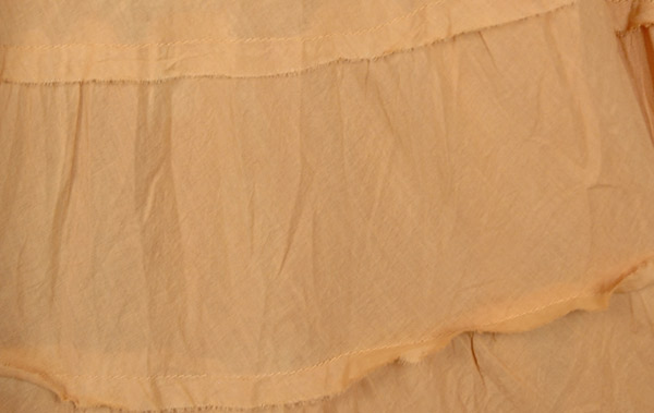 Beige Ombre 8 Tiers Cotton Long Skirt