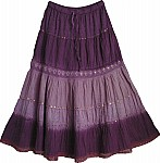 Sequin Purple Long Skirt