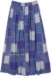 Egyptian Blue Boho Hippie Rayon Long Skirt