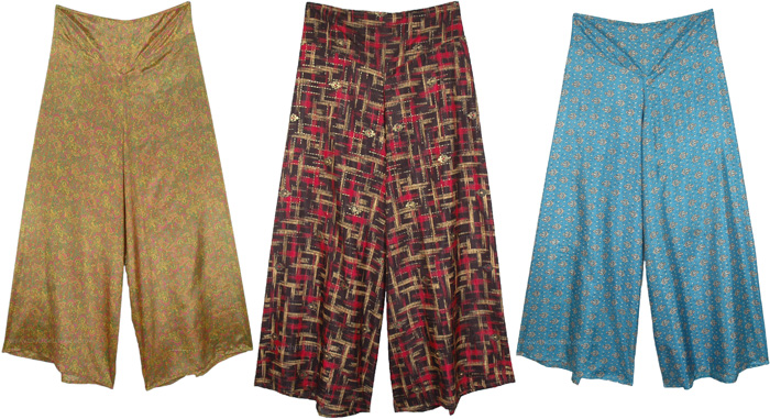 Flared Printed Palazzo Trouser - Assorted Pack Of 3