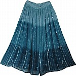 Blue Summer Long Skirt