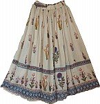 Gypsy Skirt with Floral Print