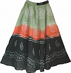 Tie Dye Sequin Dancing Skirt
