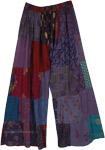 Violet Garden Patchwork Bohemian Trousers